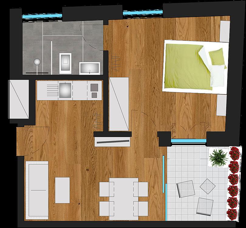beschreibung unsere ferienwohnungen ferienwohnungen. Black Bedroom Furniture Sets. Home Design Ideas